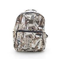 Женский рюкзак L-02 коричневый/белый (цвет 1)