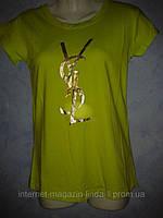 Женская футболка брендовая YSL
