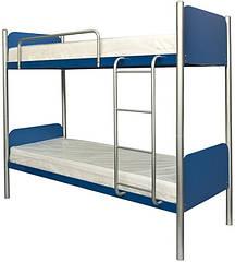 Кровать металлическая двухъярусная Арлекино Металл-Дизайн 80×200