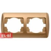 Рамка 2 поста матовое золото EL-BI Zirve Silverline 501-001300-226