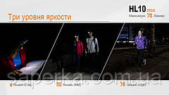 Налобный фонарь Fenix HL10 Philip LXZ2-5770 LED, фото 3