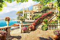 """Фотообои фреска на стену """"Терраса. Вид на озеро"""""""