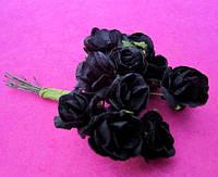 Розы бумажные уп. 144 шт. Черные