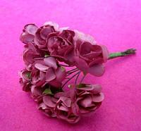 Розы бумажные упаковка 144 шт Розовые