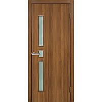 Двери межкомнатные Омис Комфорт ПО ПВХ с матовым стеклом, цвет ольха европейская
