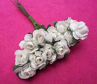 Розы бумажные упаковка 144 шт Белые