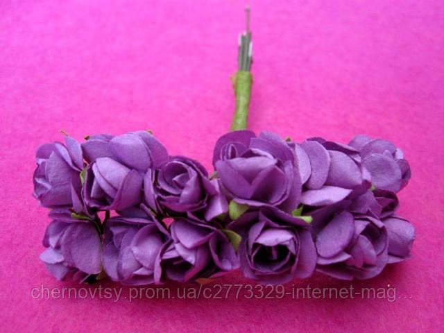 Розы бумажные уп. 144 шт. Фиолетовые