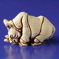 Фигурка Носорог из гипса