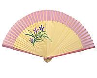 Веер с рисунком из бамбука с шелком