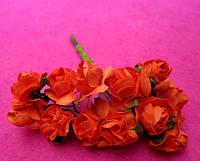 Розы бумажные упаковка 144 шт Оранжевые
