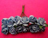 Розы бумажные упаковка 144 шт Светло-голубые