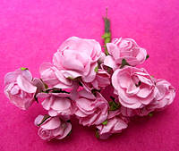 Розы бумажные уп. 144 шт. Розовые