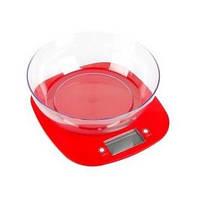 Ваги кухонні MAGIO MG-290 5 кг, електронні, пластикові, РК-дисплей, червон.