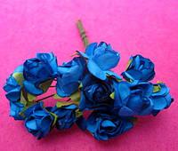 Розы бумажные упаковка 144 шт Голубые