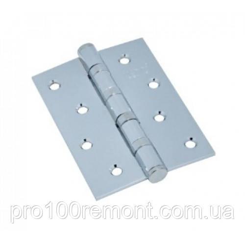 Петля для дверей КЕДР стальная универсальная 100*75*2.5-B4-CR