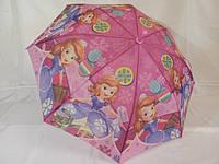 """Зонты для девочек """"принцесса софия"""" №0104, на 5 - 10 лет."""