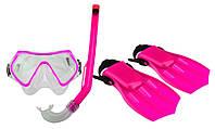 Набор для плавания для детей маска + трубка + ласты WAIMEA