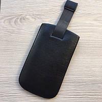 Черный кожаный футляр для iphone 4/4s