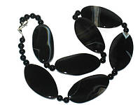 Ожерелье из  черного  агата коллекция 2015