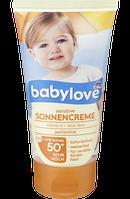 Детский солнцезащитный крем для чувствительной кожи 50 Babylove75 мл