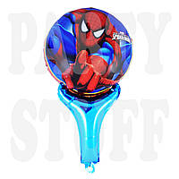 Фольгированный шар с ручкой Человек Паук, 50 см