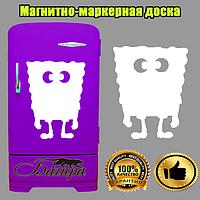 Белая магнитно-маркерная доска на холодильник Губка Боб