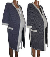 Легкий халат и ночная рубашка для беременных и кормящих Аля Найт, р.р. 42-56
