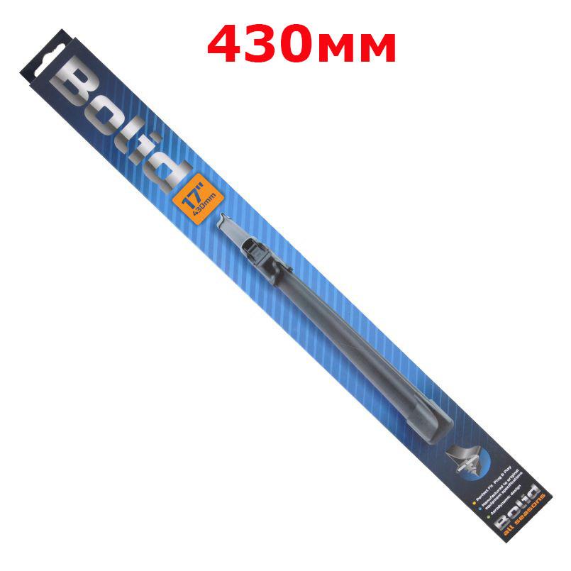 Безкаркасная щётка склоочистителя Bolid All Season 430 мм