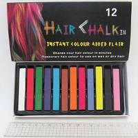 Мел для волос 8357-12 набор 12 цветов 6,5х1х1см