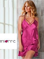 Атласный комплект: рубашка и трусики-стринги, Miorre