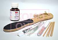 Биопедикюр. Набор:  биогель 60мл, кисть, пемза, масло, полировщик деревянный, апельсин-е палочки, фото 1