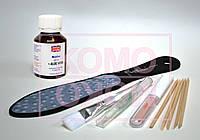 Биогель для педикюра 60мл, кисть, пемза, масло, лазерная пилка-терка для стоп, палочки, фото 1