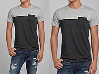 Мужская серая футболка с карманом