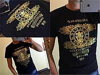 Мужская футболка с золотой накаткой