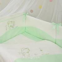Комплект сменного постельного белья Маленькая Соня Baby Tutti зеленый 90*110