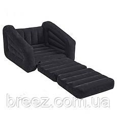 Надувное велюровое раскладное кресло Intex 68565, фото 3