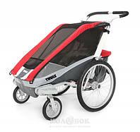 Коляска для детей THULE Chariot Cougar1 + набор колес, красная