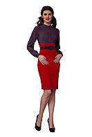 Платье женское GIOIA комбинированное красное