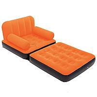 Надувное раскладное кресло Bestway 67277 оранжевое, фото 1