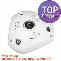 Панорамная камера видеонаблюдения потолочная MicroSD VR360 IPC CAMERA 1317VR WIFI / cистема видеонаблюдения