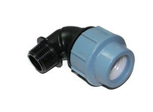 Отвод компрессионный с наружной резьбой 63*6/4 Unidelta