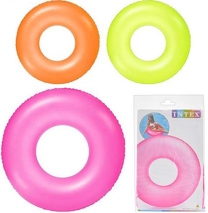 Надувной круг Intex 59262 (91 см) Неон ОПТом, фото 2
