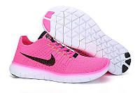 Женские кроссовки Nike Free 5.0 Flyknnit Pink Реплика