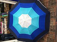 Пляжный зонт c серебряным напылением, усиленими спицами (ромашка)