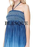 Сарафан-юбка джинсовая  синяя