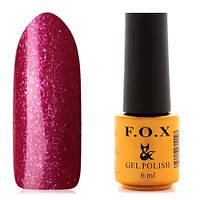 Гель-лак F.O.X  6 мл pigment №006 (ярко-малиновый с блесками), фото 1