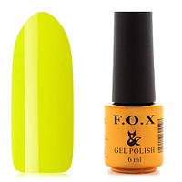 Гель-лак F.O.X  6 мл pigment №008 (кислотно-лимонный), фото 1