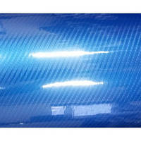 Пленка под карбон 6d синяя под лаком 1,52 м