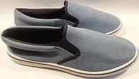 Кеды тапки слипоны р40-45 WONEX голубые