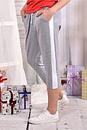 Женские капри больших размеров цвет серый 028-1 размер 42-74, фото 3